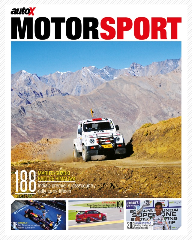 autoX, November 2013 issue, motorsport section cover